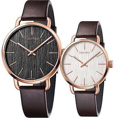 Calvin Klein CK Even 木質情侶手錶 對錶