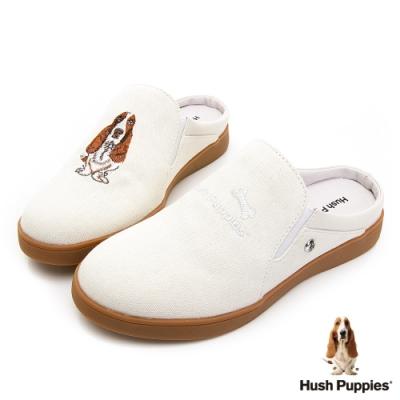 Hush Puppies 經典巴吉度穆勒鞋款-白色