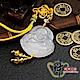 財神小舖  發財彌勒吊飾-黃色 (含開光) DSL-5804 product thumbnail 1