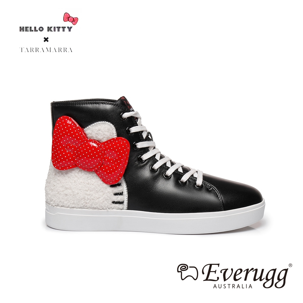 EVERUGG KITTY經典內刷毛高筒休閒鞋(黑色) N2