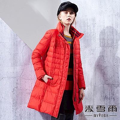 【麥雪爾】運動風英文圖輕量舖棉外套