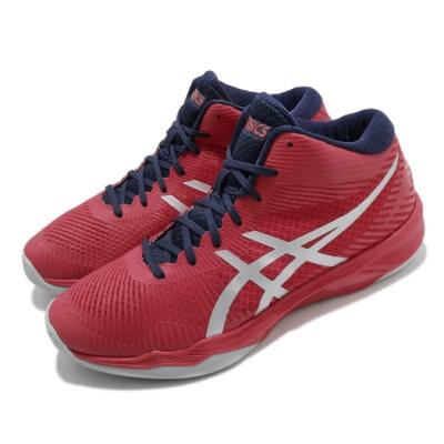 Asics 排球鞋 Volley Elite FF MT 男鞋 亞瑟士 FlyteFoam 緩震 進階 紅 銀 B700N600