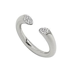 Calvin Klein CK BRILLIANT簡約開口式水晶銀色戒指