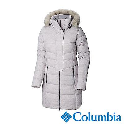 Columbia哥倫比亞 女款-長版羽絨大衣-灰藍 UWK01490CB