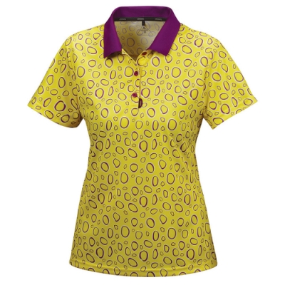 【ATUNAS歐都納】 女款防曬涼感吸溼排汗短袖POLO衫A-P1620W淺黃