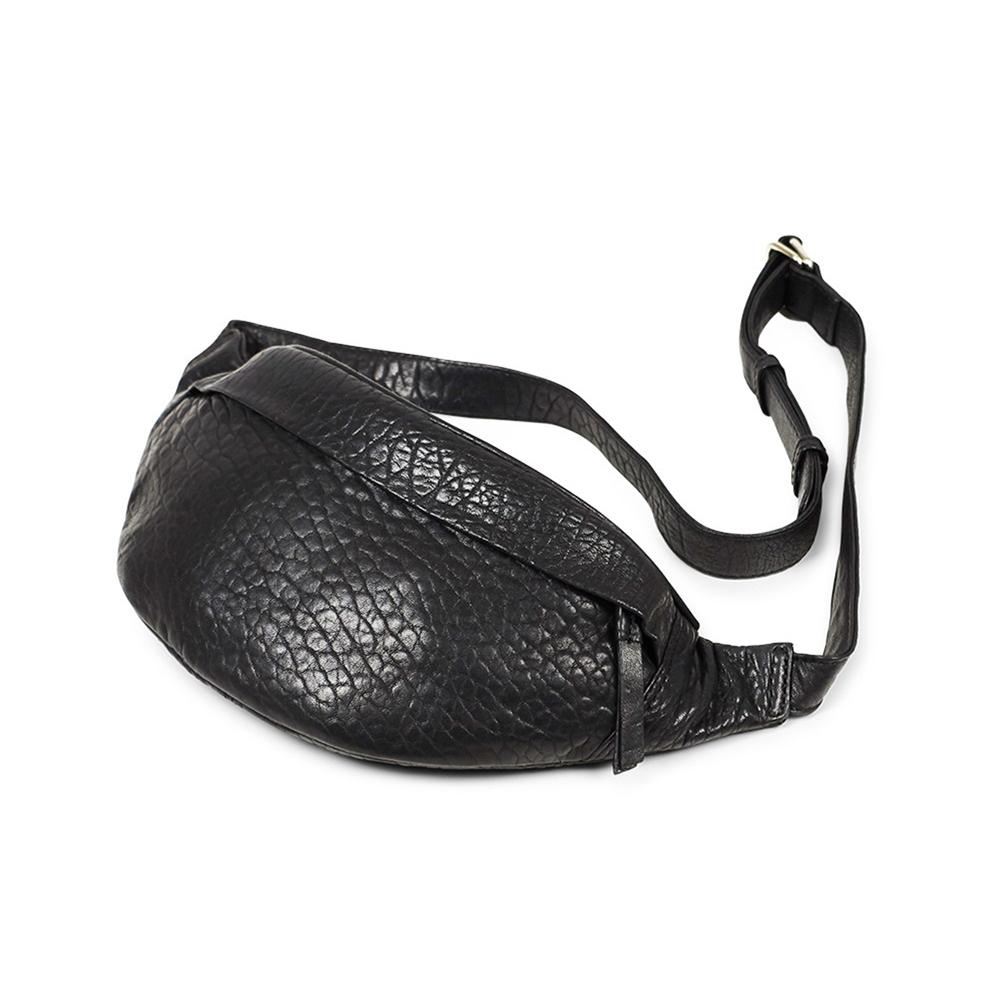 MARKBERG Tova 丹麥手工牛皮個性托瓦腰包 胸包 斜背包(泡泡黑)