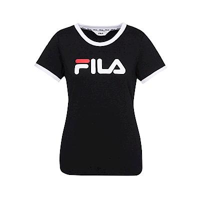 FILA 女款短袖圓領T恤-黑色 5TET-1510-BK