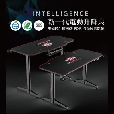 【CHAMPION】 Z1S 專業高規智能電動升降桌/電競桌/主播桌(多項國際認證/滿版滑鼠墊+杯架)