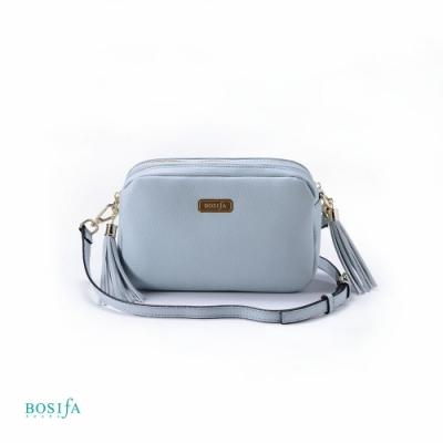 【BOSIfA】氣質流蘇斜背包(天空藍193001BU)(暢貨出清)