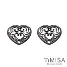 TiMISA  古典心 純鈦耳環一對