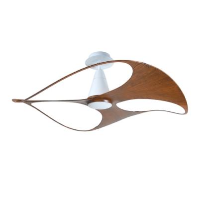 VENTO芬朵 SWISH 48吋燈扇 白色本體 胡桃木紋葉片 不含安裝