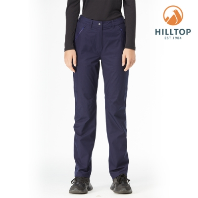 【hilltop山頂鳥】女款GORE-TEX防水透氣保暖長褲H31FM4海底藍