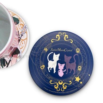 官方授權 Sailor Moon美少女戰士 吸水杯墊 鶯歌陶瓷 (露娜家族)