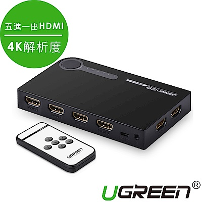 綠聯 五進一出 HDMI切換器