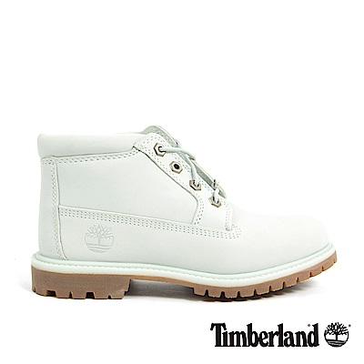 Timberland 女款淡藍色絨面皮革休閒靴   A1NDKK34