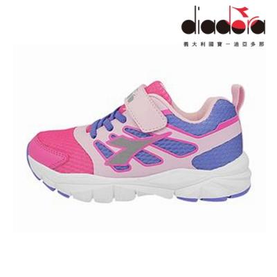 Diadora 兒童競速慢跑鞋 中童 超寬楦 粉 DA9AKR7932