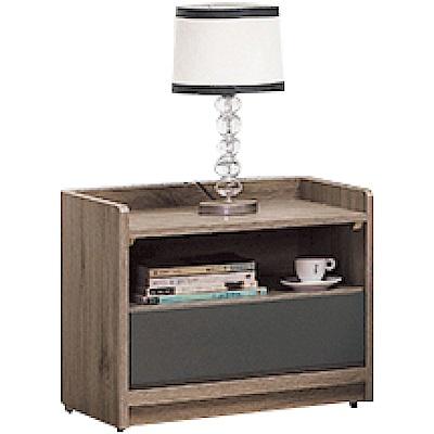 綠活居 馬布斯時尚1.7尺雙色床頭櫃/收納櫃-51.5x40x46cm免組