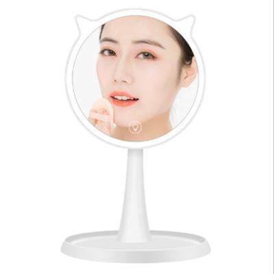 COMET LED觸控調光貓耳朵桌式化妝鏡(TD-008)
