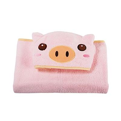 COTEX可愛動物大浴巾品克豬(粉紅色)