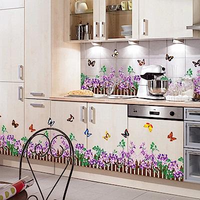 半島良品 DIY無痕壁貼-紫色小柵欄 AY756A 50x70cm