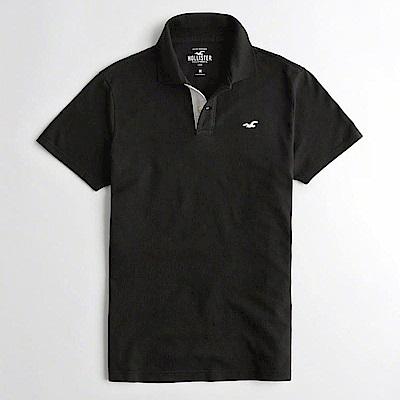 Hollister HCO  短袖 polo 黑色 0911