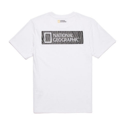 NATIONAL GEOGRAPHIC 中性 Animal pattern BACK logo box H/TEE 短袖T恤 白-N202UTS140010