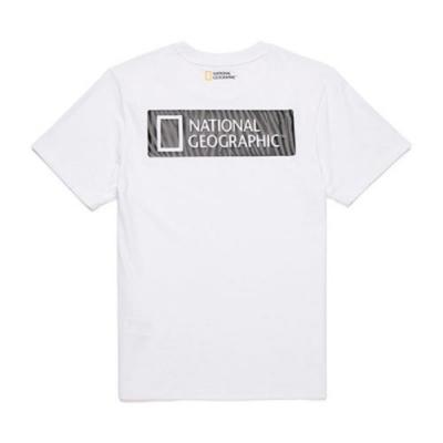 NATIONAL GEOGRAPHIC 中性 Animal pattern BACK logo box H/TEE 短袖T恤 白-N202UTS140010