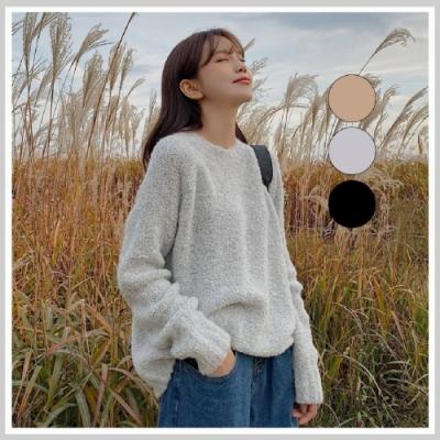 針織上衣 慵懶加厚質感長袖針織衫GS9966-創翊韓都