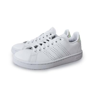 adidas 休閒鞋 復古 皮革 運動 女鞋 白 EE9690 ADVANTAGE