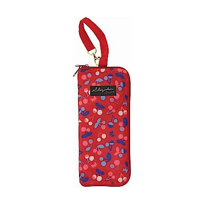 日本Prairiedog 可調式掛勾絨毛超吸水摺疊傘套-櫻桃紅