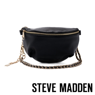 STEVE MADDEN-BGULIANA 金屬鍊鉚釘個性斜肩包-黑色