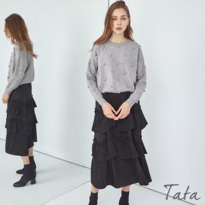 拼接百褶蛋糕裙 共二色 TATA-F