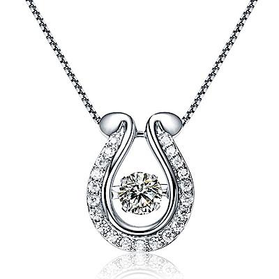 伊飾晶漾iSCrystal 真誠之心 碎鑽鋯石銅鍍白銀項鍊