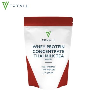 [台灣 Tryall] 濃縮乳清蛋白-泰式奶茶 (500g/袋)