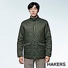 【HAKERS 哈克士】男款 保暖外套(森橄綠)