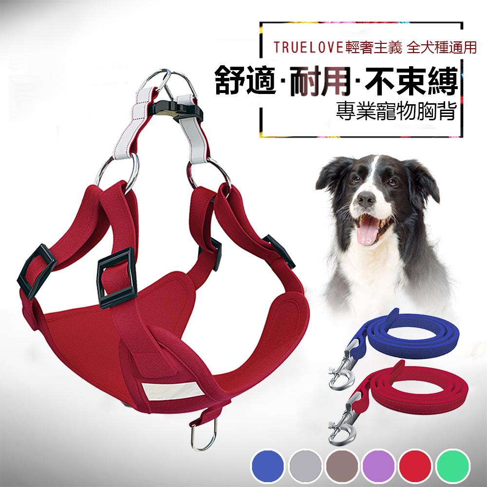 OOJD 寵物外出牽引繩 鹿皮絨防水耐用3D反光Y型一秒穿胸背帶 (兩色)