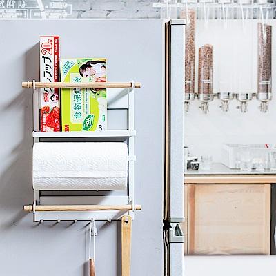 樂嫚妮 冰箱收納架/多功能/ 4合1收納架/磁吸式/廚房收納