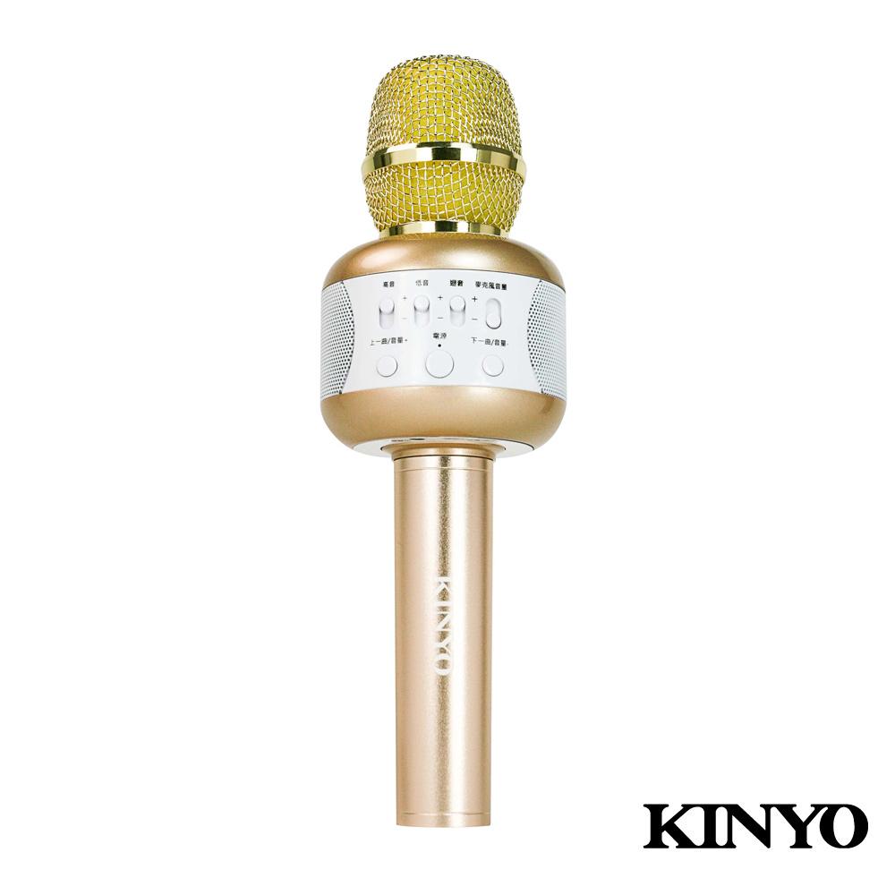 KINYO雙立體聲喇叭行動K歌麥克風(BDM500) 附贈炫光舞台燈