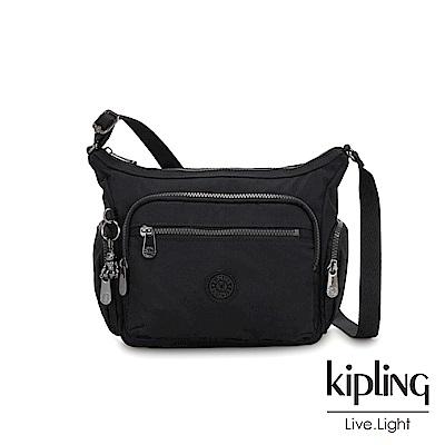 Kipling 極致低調黑多袋實用側背包-GABBIE S