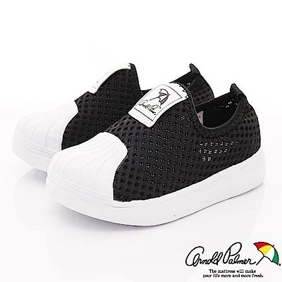 雨傘牌 專櫃針織貝殼休閒鞋款 EI93650黑(小童段)