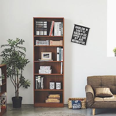 Home Feeling 書櫃/6層/收納櫃/置物櫃/加高-63X24X180