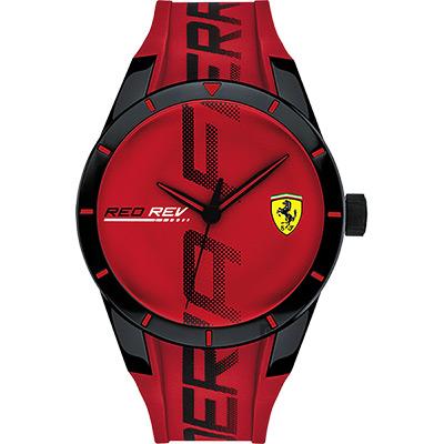 Scuderia Ferrari 法拉利 Red Red 手錶-紅/43mm