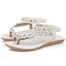 KEITH-WILL時尚鞋館 (現貨+預購) 自然率性小平底涼鞋-白
