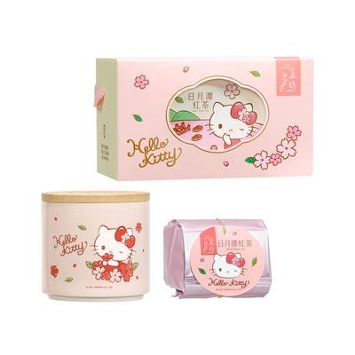 Hello Kitty 日月潭紅玉紅茶陶瓷儲物罐小禮盒(外盒附緞帶提把)