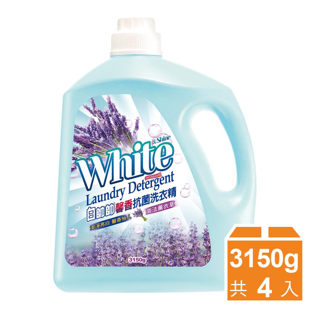 白帥帥 馨香抗菌洗衣精 南法薰衣草-3150gx4瓶
