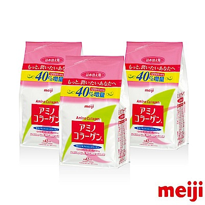 明治 膠原蛋白粉-補充包42天份 3件組(300g/包 x 3包)