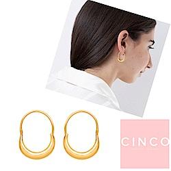 葡萄牙精品 CINCO Cassandra earrings 24K金耳環 微笑平衡耳環
