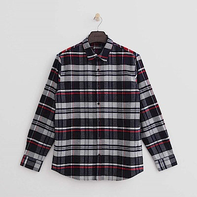 Hang Ten男裝低調復古配色襯衫紅