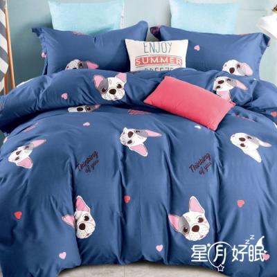 星月好眠 台灣製 二件式單人床包枕套組 舒柔棉磨毛技術加工處理 多款任選