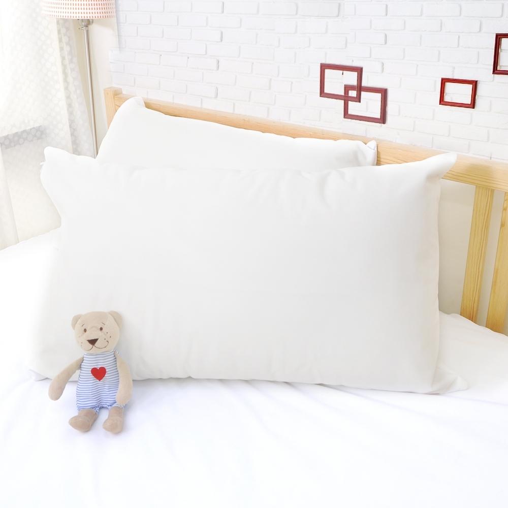 亞曼達Amanda 100%防水透氣抗菌枕頭保潔墊 枕頭套 -2入 (白色)